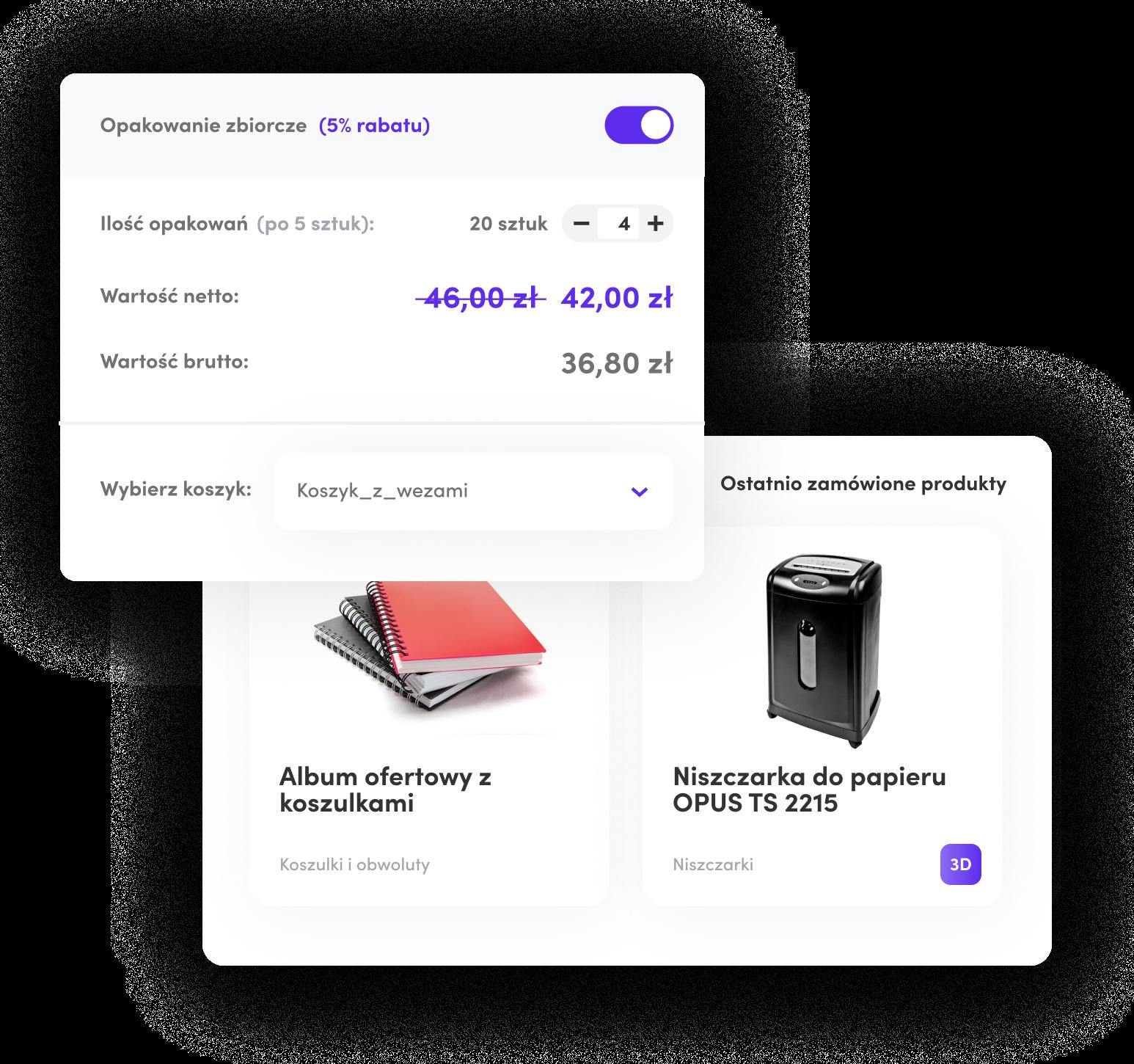 funkcja cross-sellingu w platformie zamówieniowej b2b saly