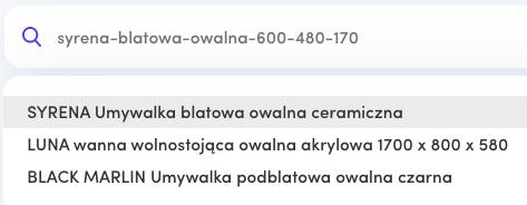 Wyszukiwarka b2b Saly - wyszukiwanie po kodach zamówieniowych