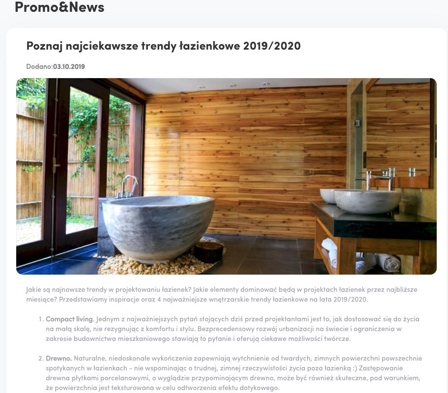 wpis na blog dla branży łazienkowej