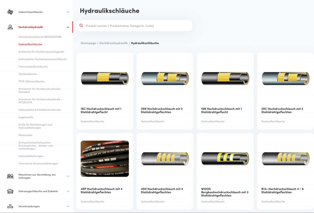 katalog produktów w niemieckiej wersji językowej na zintegrowanej platformie B2B Madejski