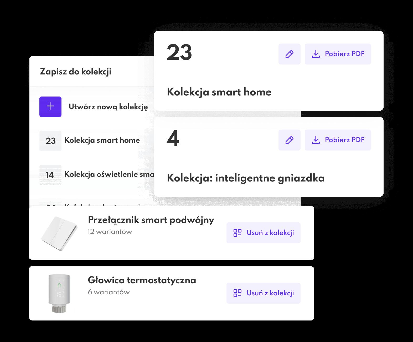 kolekcje na platformie B2B Saly