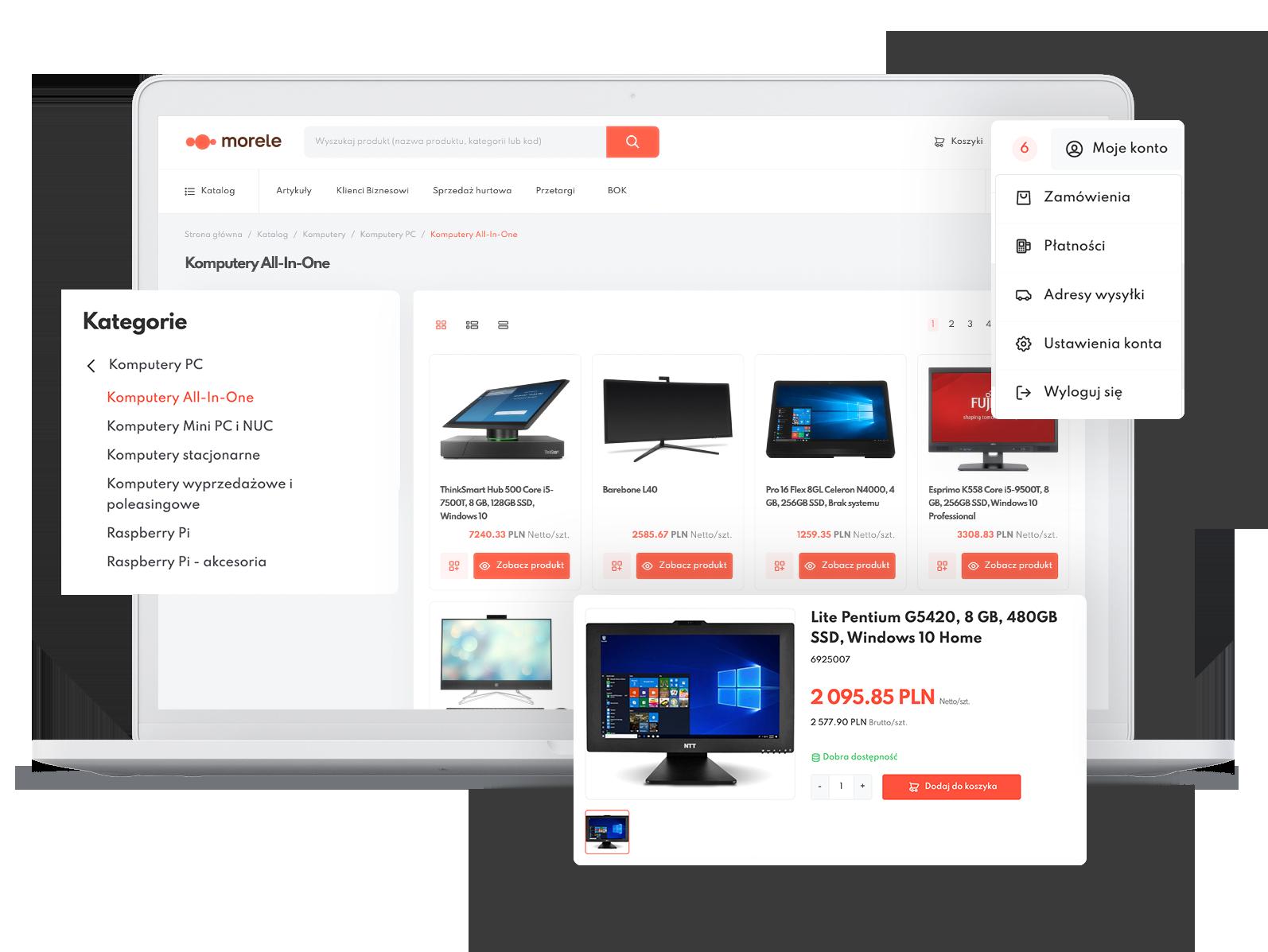 Platforma biznesowa dla lidera polskiego rynku e-commerce z segmentu dystrybucji elektroniki użytkowej